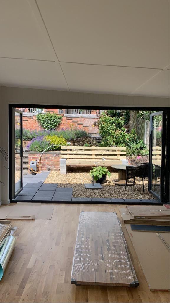 summerhouse open french doors