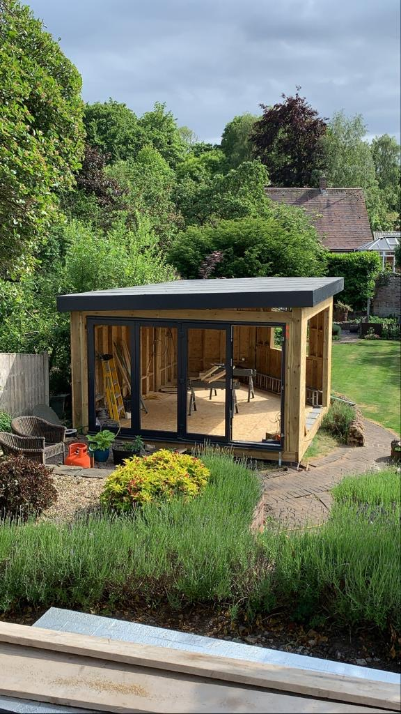 summerhouse french doors roof